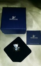 ADORABLE Swarovski Teddy BEAR Tie Tack Pin Brooch MINT IN BOX WITH BROCHURE