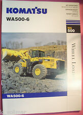✪ ancien original prospectus/sale brochure Komatsu wa 500-6 wheel Loader