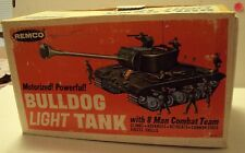 Remco Bulldog Light Tank With Box Battery Operated Antique Toy-Smaller Version