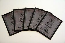 Keep Calm and Kill Zombies Lot of 5 vinyl decals stickers FREE SHIPPING