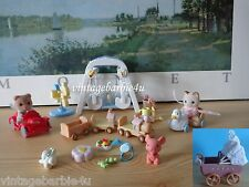 Calico Critters Lot Dollhouse 5 Playsets Epoch Sylvanian Family Vintage 1985