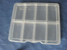 TRANSPARENT COMPARTMENT FISHING, JEWELLERY, TOOL STORAGE PLASTIC CONTAINER BOX