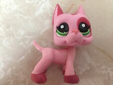 Littlest Pet Shop RARE Great Dane Dog Puppy #2598 Strawberry Mauve Pink Patches