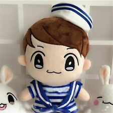 "Kpop EXO BaekHyun+Navy Clothes 22cm/9"" Plush Toy Stuffed Doll Handmade Fans Gift"
