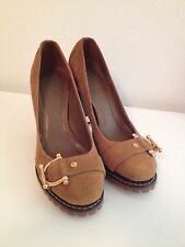 Tory Burch Size 6 M Brown Suede Heel Women's Shoes Store Display Sample