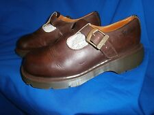 Dr MARTENS MARY Jane  brown T Bar buckle strap polley Size UK 8 / EU 42