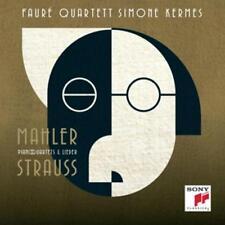 Fauré Quartetto/Simone Kermes-STRAUSS & Mahler-Piano Quartets & CANZONI CD * * NUOVO *