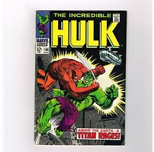 "INCREDIBLE HULK #106 Grade 7.0! ""Above the Earth….a Titan Rages!"""