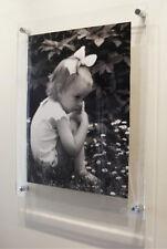 """Acrilico 10mm 20x28"""" GALLEGGIANTE poster cornice foto ad un 16x24""""/A2/40x60cm"""