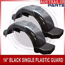 "2 X  PLASTIC SINGLE AXLE GUARD 14"" WITH STEP AND COVER BLACK.PLASTIC AXLE GUARD"