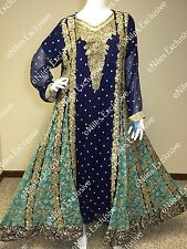 Pakistani Indian Designer Outfit Salwar Kameez Heavy Embroidery Party L XL