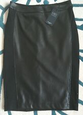 MARKS AND SPENCER STUNNING FAUX LEATHER  SKIRT SIZE 14 PETITE BNWT