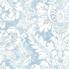 AB42422 Abby Rose 3 Blue and White Damask Wallpaper