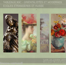 Auctionn Catalog French Russian Orientalist Moderne 19th century Painting