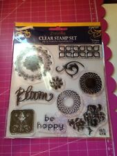 Flourishes Clear Stamp Set By Little Yellow Bicycle 13 Pcs