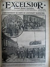 WW1 AVIATION RAPATIEMENT CORPS PILOTE BRITANNIQUE WARNEFORD EXCELSIOR 23/06/1915