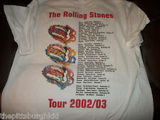 NICE 2002-2003 ROLLING STONES FORTY LICKS CONCERT T SHIRT MEDIUM  GENTLEY WORN