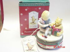 PHB MIDWEST DISNEY'S CLASSIC POOH CHRISTMAS GIFT EXCHANGE TRINKET BOX