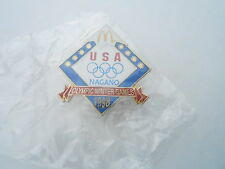NOS Vintage McDonalds Advertising Enamel Pin #09 - 1998 WINTER OLYMPICS NAGANO