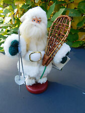 """Santa's Workshop ~ Hand Crafted Collectibles ~ 7"""" Snowshoeing Santa in White"""