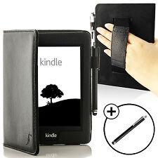 Bracelet en Cuir Noir Smart Case Cover pour Amazon Kindle Paperwhite 2015 + Stylet