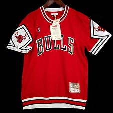 100% Authentic Bulls Mitchell & Ness Bulls Shooting Shirt Size XL 48 - jordan