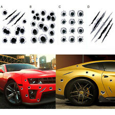 New Creative Car Styling 3D Fake Bullet Hole Gun Shots Funny Car Stickers Decals