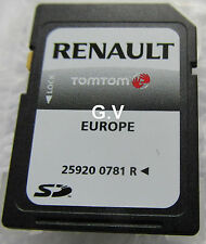 Renault tom tom sat nav sd card 2012 royaume-uni, irlande 25920 0781 r free post