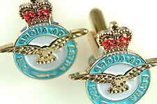 RAF ROYAL AIR FORCE CLASSIC HAND MADE GOLD PLATED REGIMENTAL CUFFLINKS