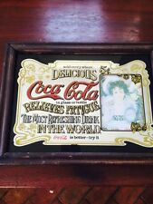 Vintage Pub Mirror Original Coca Cola Pub Advertising Mirror Man Cave Pub