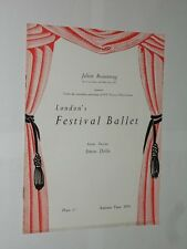 London's Festival Ballet. Autumn Tour 1953 Programme. Bradford The Alhambra.