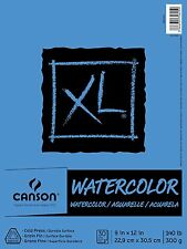 "XL Watercolor Pad,9""X12"" Fold Over by Canson 100510941 30 shts of140lb/300gs AOI"