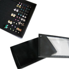 100 Slot Earring Rings Box Storage Organizer Fashion Jewelery Display Cases