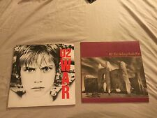 "2 X U2 12"" Vinyl Record Albums War - The Unforgettable Fire Rare!"