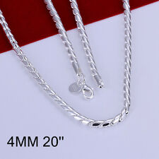 Wholesale 925Sterling Silver Men wring rope chain Necklace 4MM 20inch NLB012