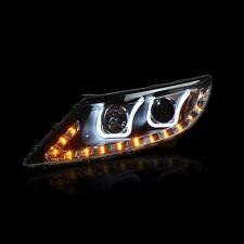 LED UU Style Xenon HID DRL Headlights For KIA Sportage R 2011~2015