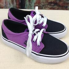 DC Boys Low Top Shoes Black & Purple Size 12Y New Never Worn Free Shipping  SH03