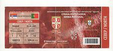Orig.Ticket   EM Qualifikation  28.03.2007   SERBIEN - PORTUGAL  !!  SELTEN