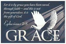 Ephesians 2:8 Bible Quote Grace Dove - Religious & Inspirational Modern Postcard