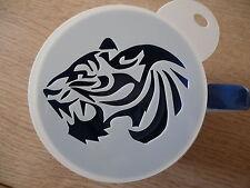Corte Láser Diseño De Cabeza De Tigre Café y artesanía de la plantilla