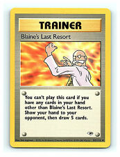 Blaine's Last Resort 105/132 Unc. Trainer Gym Heroes Unlimited Pokemon Cards NM