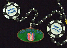 All In Poker Mardi Gras New Orleans Beads Necklace Party Casino Cards
