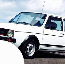 2x VW GOLF 1 GTI ✔ Seiten Aufkleber ✔ Streifen Sticker ✔ Oldtimer ✔ Schw. matt ✔
