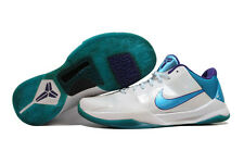 Nike Zoom Kobe V 5 White/Orion Blue-Purple Draft Day Hornets 386429-100 SZ 10.5