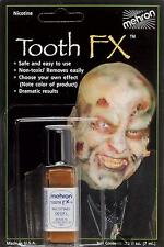 MEHRON TOOTH FX NICOTINE DECAY COSTUME STAGE MAKEUP ZOMBIE ROT TEETH