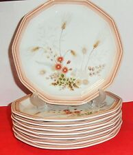 8 VINTAGE MIKASA COUNTRY PLACE HIGH SUMMER DINNER PLATES FR302