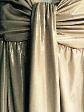 Cache Strapless Metallic Gold Dress Size 4
