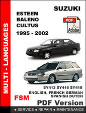 SUZUKI ESTEEM BALENO CULTUS 1995 - 2002 FACTORY SERVICE REPAIR WORKSHOP MANUAL