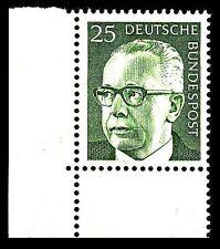 BUND Heinemann  25 Pf. **, Mi. 689 - Eckrand u.l. Luxus