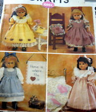 """GREAT 18"""" DOLL CLOTHING SEWING PATTERN UNCUT"""